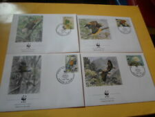 St.Vincent 1989 Wwf Bird Königsamazone 4 FDC First Day Covers