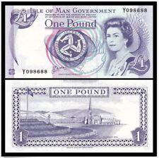 Isle of man 1 Pound £1 ND (1983 Issue), Queen Elizabeth II (UNC) Prefix AA