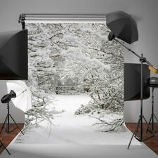 3x5FT Winter Snow Ice Forest Scenic Photography Background Photo Backdrop Vinyl
