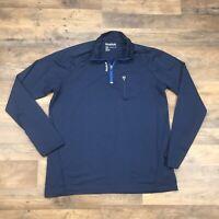 Reebok Athletic Pullover 1/4 Zip Long Sleeve Shirt Stretch Crossfit Men's 2X XXL