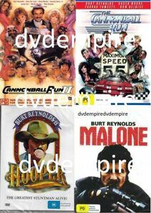 Burt Reynolds 4 DVD Collection Cannonball Run 1&2 Hooper Malone New Australia