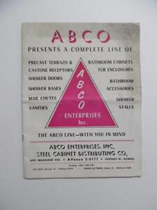 Vintage ABCO Bathroom Cabinet Fixture Architectural Catalog Glass Enclosures