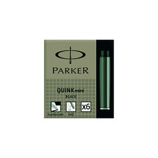 Parker Quink Mini Ink Cartridges Black 6 Pack S0767220