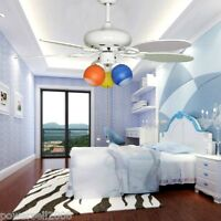 42 Inches White 3 Lights D106 CM Rope Control Children's Ceiling Fans Light