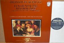PHILIPS Schutz CAPELLA LIPSIENSIS Italian Madrigals KNOTHE 9502 061 NM/NM-