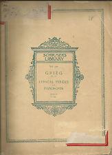 Grieg Lyrical Pieces for Pianoforte Op 68 Schirmer's Library Vol 779 PB