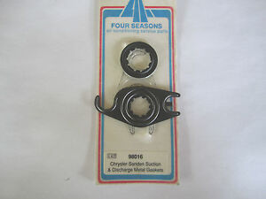 A/C AC CHRYSLER SANDEN SUCTION & DISCHARGE METAL GASKET NEW OLD STOCK 98016