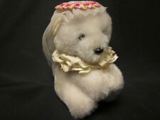 "DAKIN Mini Bear Plush Hugger Clip Hanger 2"" Wedding Bride '85 Free US Ship VTG"