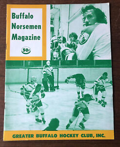 1975 NAHL North American Hockey League Buffalo Norsemen Program vs Beauce Jaros