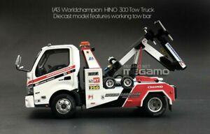 1/43 TINY Hino 300 HK World Champion Tow Truck Diecast Model