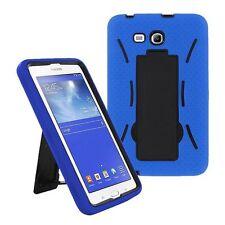 Dark Blue Hybrid Hard Case Skin Cover For Samsung Galaxy Tab 3 E Lite 7.0 T110