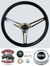 """1966 Chevelle Malibu steering wheel SS Grant 15"""" MUSCLE CAR STAINLESS wheel"""