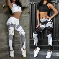 Women Waist Yoga Fitness Leggings Leotards Athletic Running Stretch Sports Pants