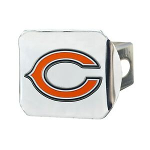 Fanmats Chicago Bears NFL 3D Color on Chrome Metal Hitch Cover Del. 2-4 Days