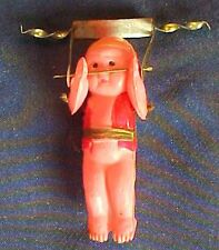 Vintage Plastic Metal Acrobat Figure Child Pink With Red Clothing