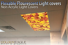 Fluorescent Light Panel Diffuser Flexable Covers Ceiling Decorative Autumn 7
