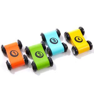 Wooden Children's Slide Car Trolley Track Slide Inertia Pull Back Glider _xp
