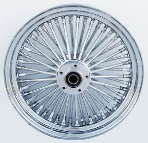 """Chrome Ultima 48 King Spoke 16"""" x 3.5"""" Front Dual Disc Wheel For Harley"""
