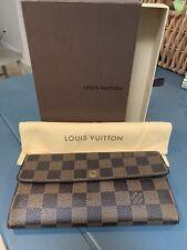 Authentic Louis Vuitton Damier Ebene Sarah Wallet