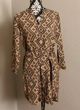 Cute! Almost Famous Brown/Black Shirt Dress Size M