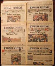 Lot of 6 GREEN BAY PACKERS 1996 Newspapers~Milwaukee Journal~SUPER BOWL SEASON