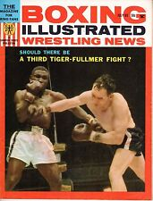 1963 July Boxing Illustrated/Wrestling News magazine,Dick Tiger,Gene Fullmer~Gd