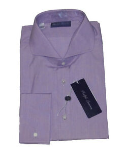 Ralph Lauren Purple Label Italy Mens Solid French Cuff Keaton Button Dress Shirt