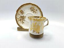 Hammersley Bone China Gold Roses Tea Cup & Saucer