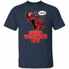 Funny Deadpool Heart Beat For You Valentine T-shirt Marvel Lover Men't Tee