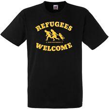 Refugees Welcome Shirt NEU FOTL Antifa Punk Kein Mensch ist illegal Gegen Nazis