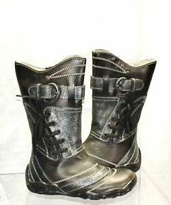 Toddler Girl's Primigi Tall Boot  - Midnight Gray -