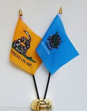Gadsden & Oklahoma Double Friendship Table Flag Set