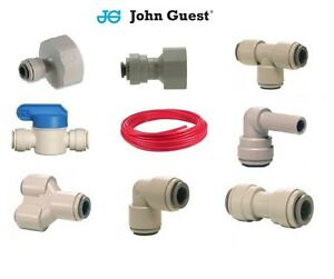 """1/4"""" John Guest Pipe Speedfit Water Filter Push Fit Tap Connectors Filter RED"""