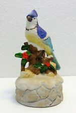 Vintage Collectible Flambro Music Box with Bird on Top