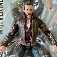 Hugh Jackman Wolverine Logan leather jacket Marvel Legends X-Men movie Fast Ship