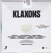 KLAXONS LOVE FREQUENCY RARE 11 TRACK PROMO CD