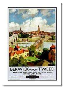 Berwick Upon Tweed British Railways Retro Vintage Guide Advert Picture Poster