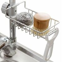 Sponge Storage Rack Kitchen Sink Scouring Pad Holder Shelf Hanging Organizer