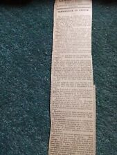 Sa16 Ephemera 1915 article Falmouth a soldier's letter from France