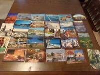 Vintage Lot Of 27 Post Cards all Different ~ All Locations Some Used Some Unused