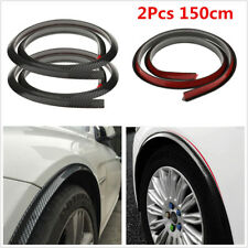 2Pcs Carbon Fiber Car Wheel Eyebrow Arch Trim Lips Strips Fender Flare Protector