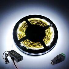 Super Bright 5M 5630 SMD 300 LED Cool White Strip Flexible Light+DC+12V 5A Power