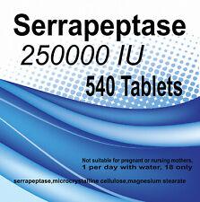 Serrapeptase 250000IU Tabs Mega Potencyenteric coated x 540 Tablets