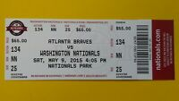 2015 BRYCE HARPER Walk-OFF HR #66 Baseball Washington Nationals Ticket stub MLB