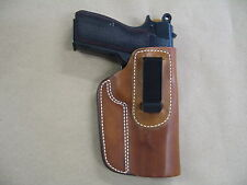 Browning High Power FN IWB Leather In Waistband Concealed Carry Holster TAN RH