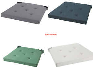 2 IKEA JUSTINA  Chair Pad Natural Padded Chair Seat Pads Cushions Original