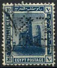 """Egypt 1921-2 SG#92, 10m Blue, """"TC&S"""" Used #D90710"""