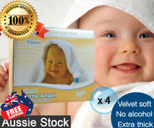 4 Boxed of 6 pk Little Angel Baby 80 Wipes Unscented Fragrance Free = 1920 wipes