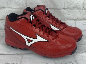 Men's MIZUNO 9 SPIKE Classic G4 Low Baseball Cleats 320223-1000 Shoes Sz 10.5