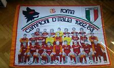 BANDIERA FLAG ULTRAS ROMA SCUDETTO 1982/83 CALCIO FOOTBALL PRUZZO CONTI silk